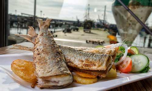 Fischrestaurant in Sassnitz auf der Insel Rügen